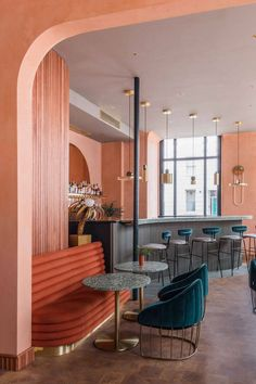 This London restaurant features 10 of the hottest interiors trends 2018 - We Are Scout - Interior Design Restaurant Interior Design, Home Interior, Modern Interior Design, Contemporary Interior, Luxury Interior, Retail Interior Design, Design Hotel, Cafe Design, House Design