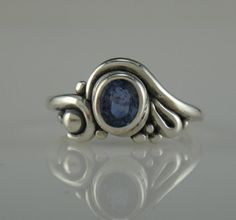 Sterling Silver Blue Sapphire Ring- One of a Kind