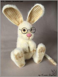 Вязаные игрушки Зайкиной Ксюшки: Вязаный Тушканчик-Зайчик