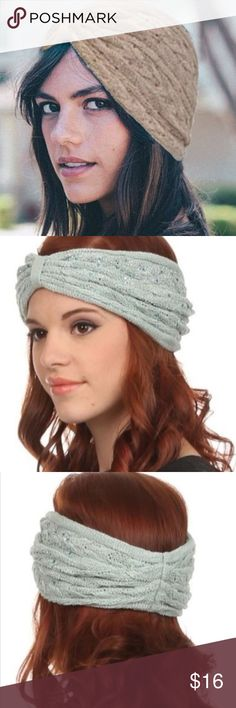 Taupe Winter Embellished Ear Warmer Headband Wrap Embellished Headband Taupe Winter Ear Warmer Headwrap  Such an awesome ear warmer ❄️ 100% acrylic. This listing is for Taupe. Also available in green, blue, cream, and black  Super cute stylish Headband Blue Embellished Winter Ear Warmer Accessories Hair Accessories