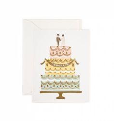 WEDDING GREETING CARD, CONGRATS CAKE www.CircoDellaModa.com