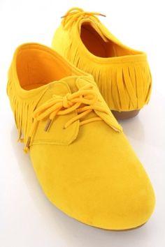 Yellow Oxfords.  Joy!
