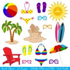 digital clip art printable beach clipart surf clipart summer rh pinterest com beach clip art images beach clipart images