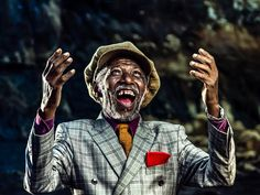 "Otieno Nyadimo, Kenya, Entry, Open, Smile, 2016 Sony World Photography Awards ""Old smartly dressed man laughing towards the heavens after some good fortune."""