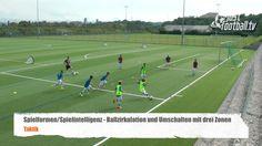 Ballzirkulation mit Umschalten in drei Zonen - Spielform - Taktik