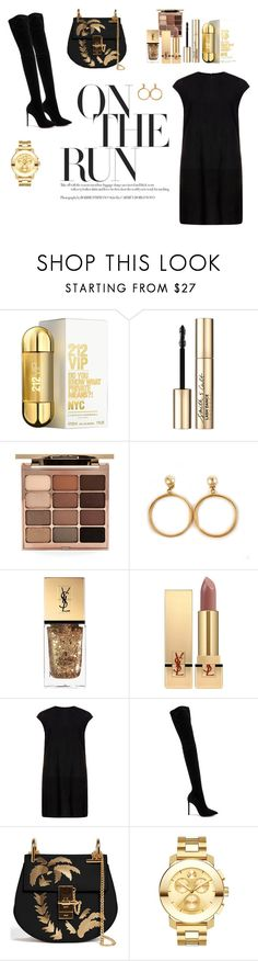 """Toronto inspired"" by aliciastagram ❤ liked on Polyvore featuring Carolina Herrera, Smith & Cult, Stila, Chanel, Yves Saint Laurent, MuuBaa, Oscar Tiye, Chloé and Movado"