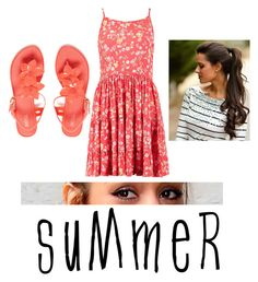 """""""Untitled #34"""" by alexis2014wilson ❤ liked on Polyvore featuring Melissa and summersandals"""