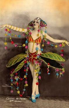 of the 1920 s includes casino de paris folies bergere and moulin rouge Vintage Photographs, Vintage Images, Vintage Art, French Images, Vintage Fairies, Vintage Flowers, Cirque Vintage, Folies Bergeres, Pierrot Clown