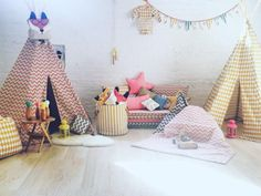 Beautiful Fall Colors & Light in the ‪#‎showroom‬ today  Welcome to the zigzag pink Arizona teepee  all By @Nobodinoz ‪#Nobodinoz‬ #Designforkids #Nurserydecor #Kidsroom #Teepee #Brooklyn #NewYork