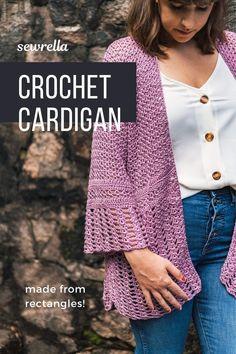 T-shirt Au Crochet, Cardigan Au Crochet, Crochet Jacket Pattern, Pull Crochet, Crochet Shirt, Crochet Woman, Free Crochet, Crochet Vests, Crochet Cape