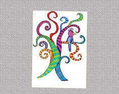 Postkarte Paradiesvogel