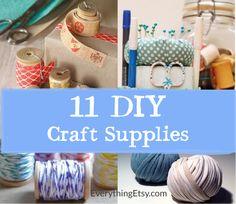 11 DIY Craft Supplies - Super cute ideas!!!  EverythingEtsy.com #diy #craft