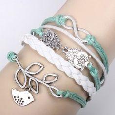 Trendy Bird Leaf Decorated Bracelet For Women