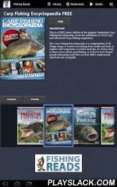 Fishing Reads  Android App - playslack.com ,  Download the free App today to access free taster copy (including at least one full article) from a range of fishing titles previously only available through single high-street retail chains.The full extent of each title – generally 100 or more pages – can then be purchased 'in App'.All Fishing Reads publications are produced by DHP Ltd – the leading publisher of angling magazines in Europe.---------------------------------This is a free app…