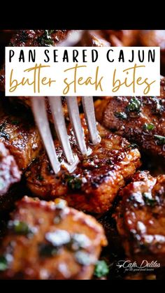 Veal Recipes, Cooking Recipes, Healthy Recipes, Steak Dishes, Cooking The Perfect Steak, Cajun Dishes, Good Food, Yummy Food, Easy Dinner Recipes