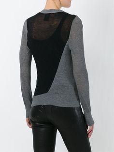 Ann Demeulemeester asymmetric fastening panel cardigan