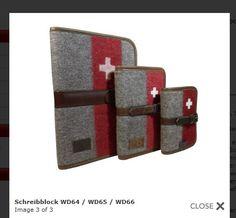 Schreibmappen aus Armeedecken aus der Schweiz #notebook #diary #stationary #cover #sleeve
