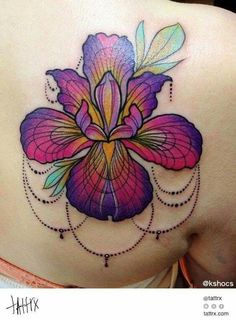 What does iris tattoo mean? We have iris tattoo ideas, designs, symbolism and we explain the meaning behind the tattoo. Iris Tattoo, Pretty Tattoos, Beautiful Tattoos, Cool Tattoos, Tatoos, Awesome Tattoos, Neue Tattoos, Body Art Tattoos, Tattoo Drawings