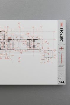 """The floor plan organizes much of the visual information in the set, indexing and referring to other documents: elevations, sections, details, schedules and specifications. It's drawn at 1/4""""=1'-0"""" and dimensioned to show the general layout of walls, doors, windows and floor planes, but not detailed enough to show everything. I use AutoCadLT to draw these plans. Architecture Logo, Architecture Graphics, Architecture Drawings, Architecture Portfolio, Interior Design Presentation, Architecture Presentation Board, Desgin, Title Block, Planer Layout"""