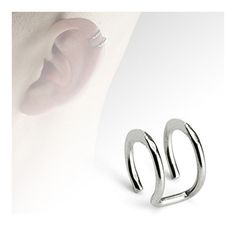 Surgical Fake Cartilage 'Clip-On' Double Closure Ring