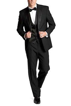 Boss Black by Hugo Boss Fellini Nero Wool Tuxedo In Black