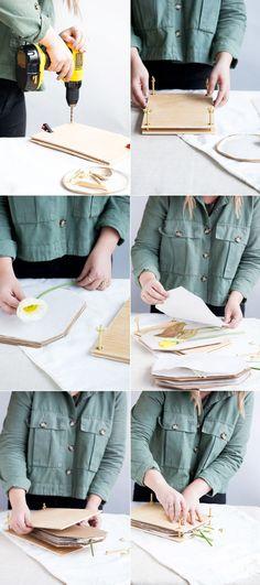 Bricolage fleur pressée |  alyssa hoppe pour designlovefest