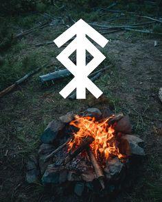 Norse viking bindrune for home protection Oreamnosoddities.com Rune Symbols, Magic Symbols, Viking Symbols, Ancient Symbols, Egyptian Symbols, Norse Tattoo, Wiccan Tattoos, Inca Tattoo, Viking Tattoos