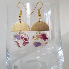 Diy Resin Earrings, Resin Jewlery, Making Resin Jewellery, Earrings Handmade, Dangle Earrings, Handmade Jewelry, Diy Resin Art, Diy Resin Crafts, Etsy Crafts