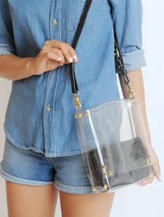 make a clear tote with my purse