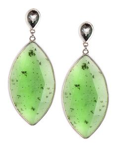 Stephen Dweck Jade Marquise Pear Earrings, Green - Neiman Marcus