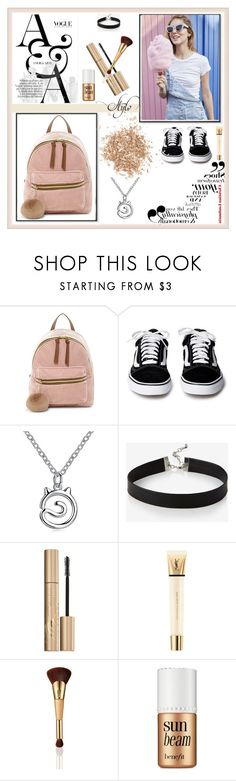 """Untitled #50"" by sanela-m ❤ liked on Polyvore featuring T-shirt & Jeans, Express, Stila, Yves Saint Laurent, tarte, Benefit and Topshop"