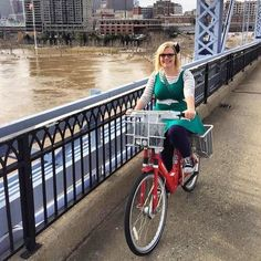 Whose excited to see us cross the river?? #cincyredbike