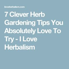 7 Clever Herb Gardening Tips You Absolutely Love To Try - I Love Herbalism