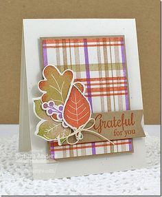 Plaid Builder Background Photo Tutorial Today I have a little photo tutorial for you on using MFT's Plaid Builder Background stamps. I LOVE this set—the possibilities are limited only to your imagination and the colors of ink you have on hand, so I encourage you to just experiment and have fun!