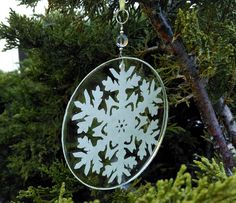 Snowflake Eco  Resin and Recycled Paper by CatalinaInspired