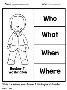 Booker T Washington Coloring Page