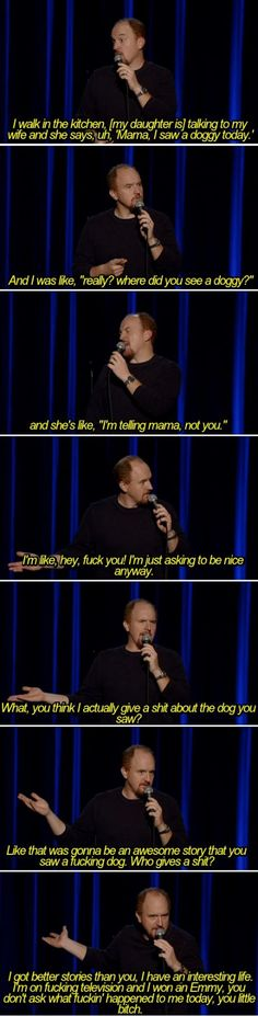 Louis CK and his daughter