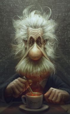 Albert Einstein by Panchusfenix on deviantART ★ Find more at http://www.pinterest.com/competing/