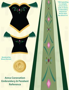 Princess Anna Coronation Embroidery References by MomoKurumi.deviantart.com on @deviantART