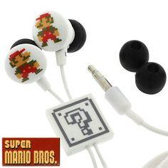 Super Mario earbuds