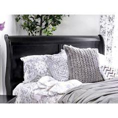 Furniture of America Mayday II Paneled Black Sleigh Bed