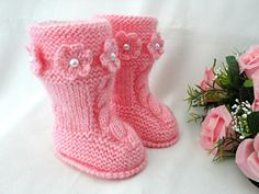 Baby Shoes Baby Girl Booties Baby Clothes Children Booty Winter Baby Uggs Newborn Shoes Infant Booties Knitting Baby Crochet Baby Shoes Girl