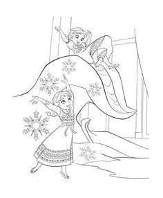 Disney Frozen Coloring Page 4
