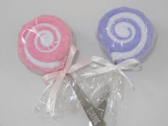 Baby Girl Gift 2 Pink and Purple Washcloth by babydelights1, $8.99