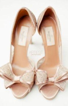 lace valentino bow pumps