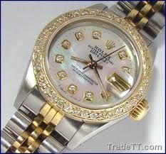 lady rolex datejust with diamond dial - Google Search