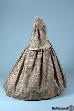 Gray Silk Moire Dress, circa 1860.