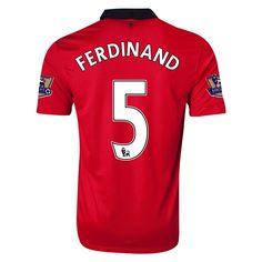 13-14 Manchester United #5 FERDINAND Home Jersey Shirt