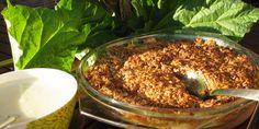 Raparperi Kaurapaistos Bagel, Camembert Cheese, Acai Bowl, Cabbage, Food And Drink, Bread, Vegetables, Breakfast, Desserts