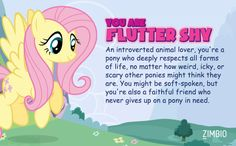 Aww man!! i got fluttershy darnet!  is my least favorite pony.Which 'My Little Pony' Are You?